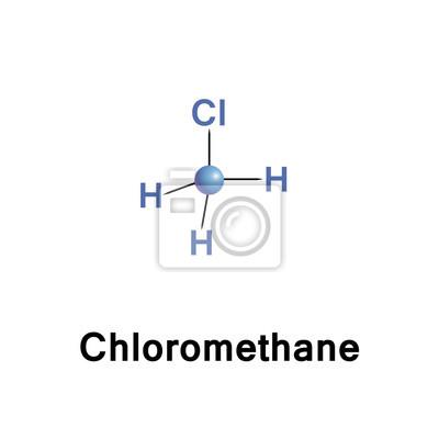 Plakat Chlorometan, zwany także chlorek metylu, czynnik chłodniczy 40, na  wymiar • tło, odizolowany, biały • REDRO.pl