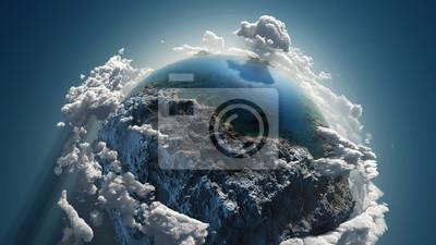 Plakat Chmura ziemi w przestrzeni