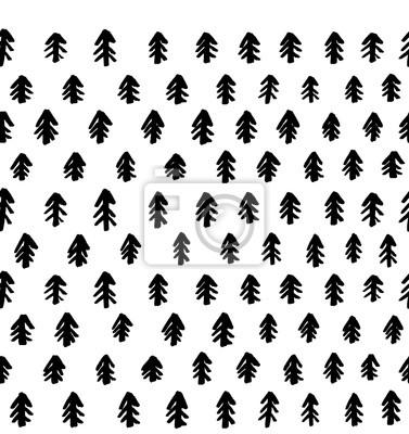 Choinka Graficzny bezszwowy wektoru wzór