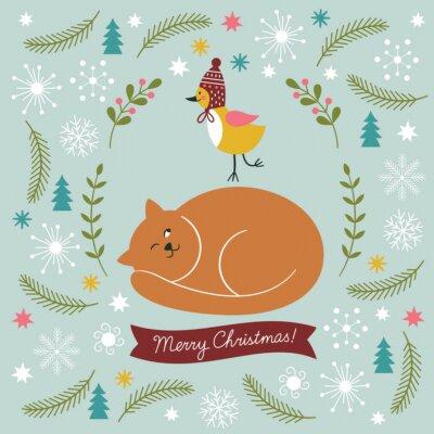 Plakat Christmas ilustracji