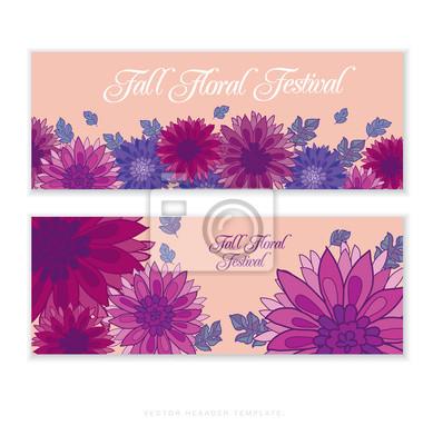 281ce16dcacc68 Plakat chryzantema kwiat karty szablon. aster kwiatowym decorat. 100cm