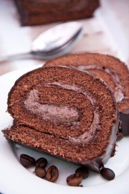 Ciasto czekoladowe-roll