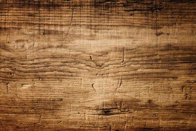 Plakat Ciemnobrązowy drewno tekstury z zadrapaniami