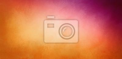 Plakat ciepłe pomarańczowe i fioletowe tło o delikatnej teksturze, Święto Dziękczynienia lub jesienne kolory w kolorze gradientu jasnym złotym do ciemnofioletowego fioletowego wzoru narożnego, elegancki eleg