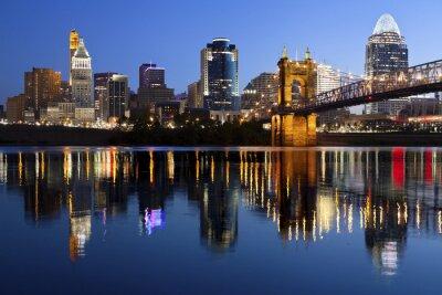 Plakat Cincinnati skyline.