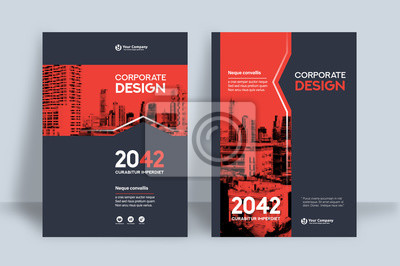 Plakat City Background Business Book Cover Design Template