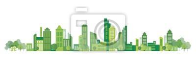 Plakat cityscape illustration
