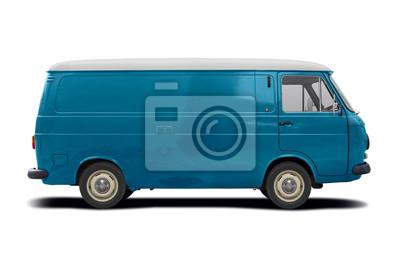 Plakat Classic Italian van side view isolated on white