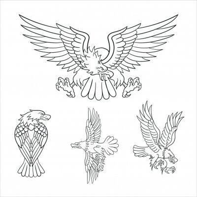 Plakat Classic retro eagles tattoo illustration design biker motorcycle art