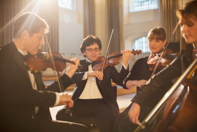 Plakat Classical quartet performing