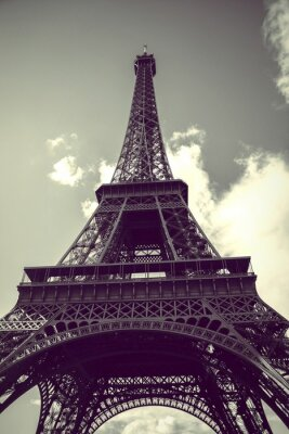 Plakat Close-up Low Angle View Of Eiffel Tower