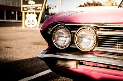 Plakat Close-up Of Vintage Car On Road