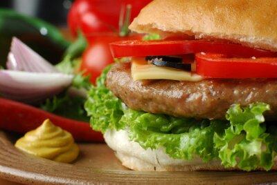 Plakat Closeup obraz hamburger