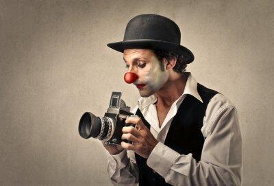 Plakat Clown zrobieniu zdjęcia