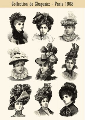 Plakat Collection de Chapeaux