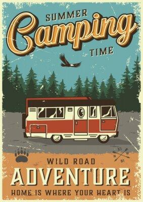 Plakat Colorful summer adventure poster