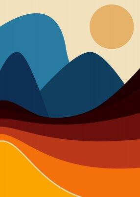 Plakat Colorfull Abstract Landscape Illustration