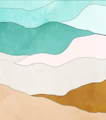 Plakat Colors of fall. Mooney Falls, Grand Canyon, Havasupai Indian Reservation, Arizona.