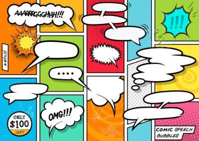 Plakat Comic Speech Bubbles