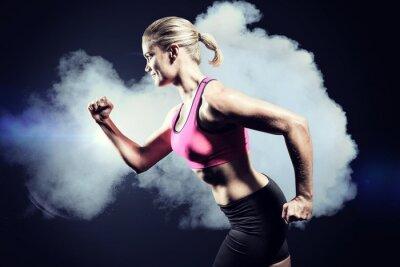 Plakat Composite obraz mięśni kobieta jazdy sportowej