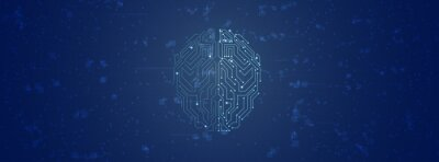 Plakat Conceptual technology illustration of artificial intelligence