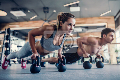 Plakat Couple in gym
