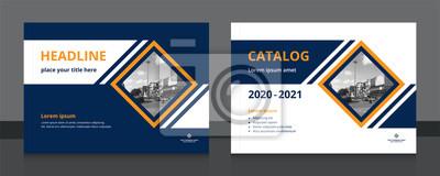 Plakat Cover design template A4 size landscape for book cover design, catalog, magazine, annual report, brochure, banner, flyer etc. Vector illustration EPS-10 sample image with Gradient Mesh.