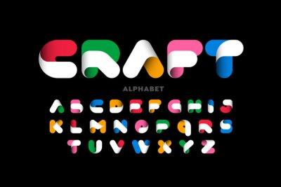 Plakat Craft style colorful font design