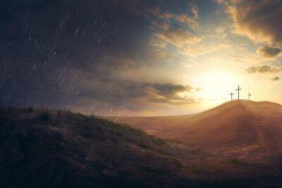 Plakat Crosses in the desert