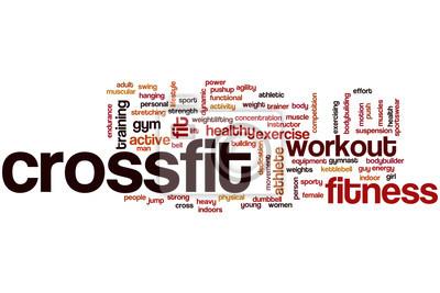 Plakat Crossfit word cloud