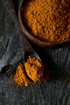 Plakat curry na powierzchni drewnianych