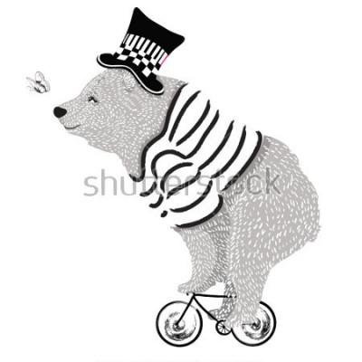 Plakat cute bear vector design. Animal illustration.