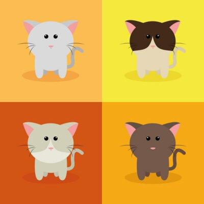 Plakat Cute cats Cartoon