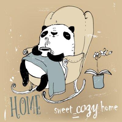 Plakat cute panda