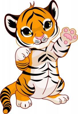 Plakat Cute zabawy tiger cub
