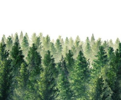 Plakat Cyfrowe ilustracji 3D wydanego lasu