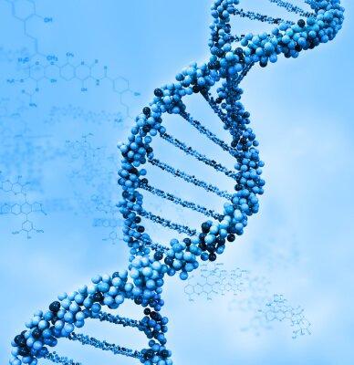 Plakat Cyfrowe ilustracji DNA