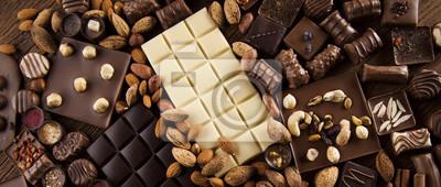 Plakat Cynamon, Ciemna czekolada z mlekiem i cukierkiem słodkim