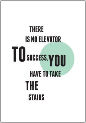Plakat Cytat typografii dla inspirująca
