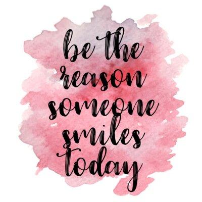 Plakat Cytuj To powód, dla którego dziś się uśmiecha. Ilustracji wektorowych