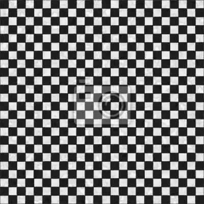 Plakat Czarno-biały bez szwu tekstury w kratkę