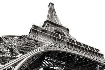 Czarno Biały Obraz Wieży Eiffla W Paryżu Plakaty Redro