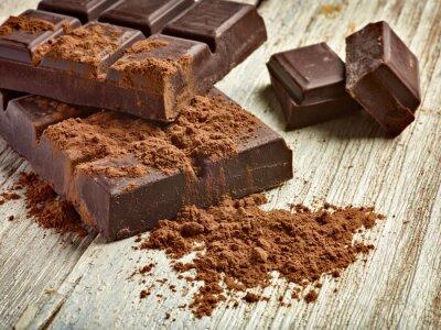 Plakat czekolada słodkie jedzenie deser