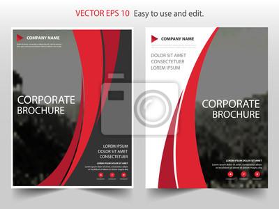 Plakat Czerwona krzywa Propozycje biznesowe firmy Leaflet Broszura Ulotka projekt szablonu, projekt okładki książki, szablon prezentacji biznesowych, projekt rozmiaru a4