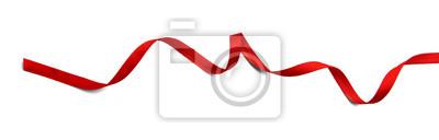 Plakat Czerwona wstążka samodzielnie na białym tle