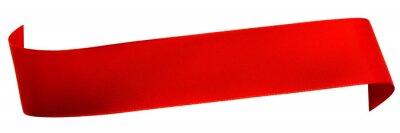 Plakat Czerwona wstążka Satyna wyizolowanych na białym
