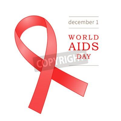 Plakat światowy Dzień Aids Znak Medyczny Ikon Wektorowych