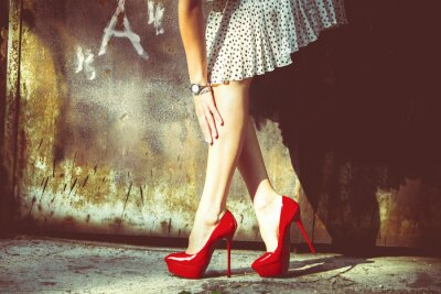 Plakat czerwone buty