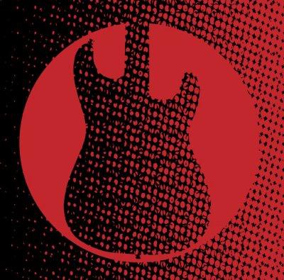 Plakat Czerwone Gitary Tło