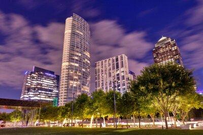 Plakat Dallas Downtown at Night